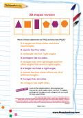 2D shapes revision worksheet