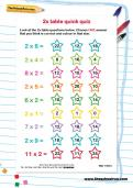 2 times table quick quiz worksheet