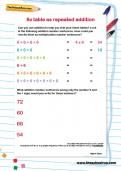 6 times table as repeated addition worksheet