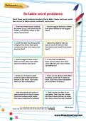 6 times table word problems worksheet