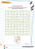 7 times table maze worksheet