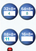 Learning division facts for the eight times table tutorial