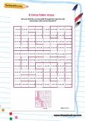 9 times table maze worksheet