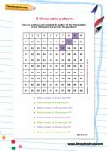 9 times table patterns worksheet