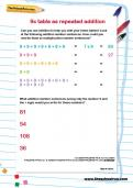 9 times table as repeated addition worksheet