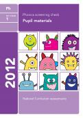 Phonics screening check 2012 past paper