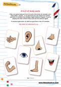 A to Z of body parts worksheet