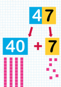 Adding a two digit number and a tens number tutorial