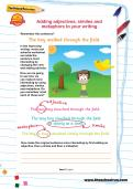 Adding adjectives, similes and metaphors to your writing
