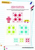 Adding and subtracting negative numbers puzzle
