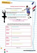 Adding clauses to sentences worksheet