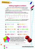 Adding negative numbers worksheet