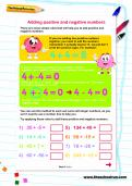 Adding positive and negative numbers worksheet