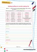 Adding suffixes to words ending -fer worksheet