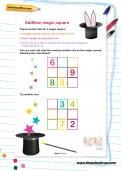 Addition magic square puzzle