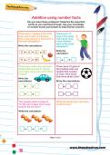 Addition using number facts worksheet