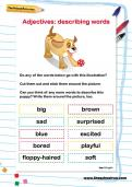 Adjectives: describing words worksheet