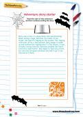 Adventure story starter worksheet