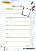 All about me fact file worksheet