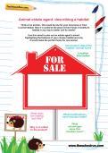 Animal estate agent: describing a habitat worksheet