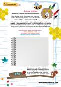 Animal homes worksheet