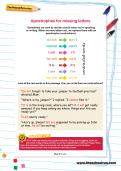 Apostrophes for missing letters football worksheet
