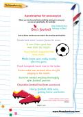Apostrophes for possession football worksheet