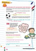Apostrophes for possession and omission worksheet