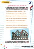 Apostrophes to mark contraction worksheet