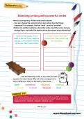 Boosting writing with powerful verbs worksheet