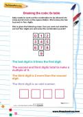 Breaking the code 6 times table puzzle worksheet