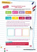 Building CCVCC words with a frame worksheet