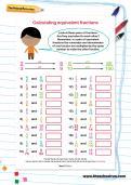Calculating equivalent fractions worksheet
