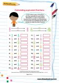 Calculating equivalent fractions worksheet