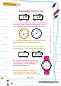 Calculating time intervals worksheet