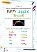 Calligrams worksheet