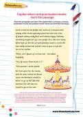 Capital letters and punctuation marks: mark the passage worksheet