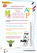 Capital letters revision worksheet