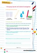 Changing liquids and solids investigation