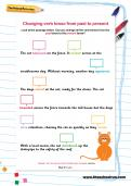Changing verb tense from past to present worksheet