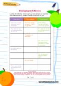 Changing verb tenses worksheet