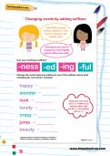 Changing words by adding suffixes worksheet