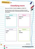Classifying nouns worksheet