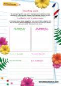 Classifying plants worksheet