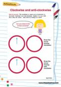 Clockwise and anti-clockwise worksheet