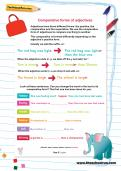 Comparative forms of adjectives worksheet