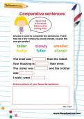 Comparative sentences worksheet