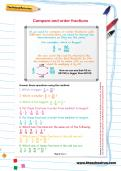 Compare and order fractions worksheet