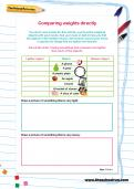 Comparing weights directly worksheet