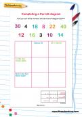 Completing a Carroll diagram worksheet